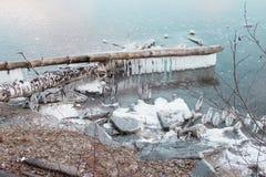 Spazzolino da denti del ghiaccio fotografie stock libere da diritti