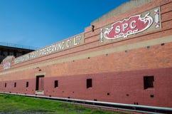 SPC Ardmona罐头工厂在Shepparton澳大利亚 库存图片