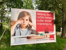 SPD billboard for the German Parliamentary Elections Royalty Free Stock Photos