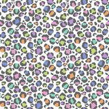 Pastel Leopard Print Seamless Pattern vector illustration