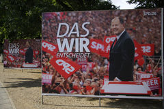 SPD election posters Royalty Free Stock Images