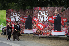 SPD election posters Royalty Free Stock Photo