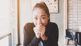 Spełnia Azjatyckiej kobiety Obrazy Stock