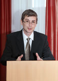 Speach. Speaker of the podium. Speech Stock Images