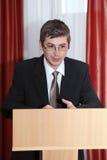 Speach. Speaker of the podium. Speech Stock Photos