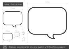 Speach bubble line icon. Royalty Free Stock Photos