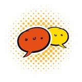 Speach bubles comics icon Stock Images