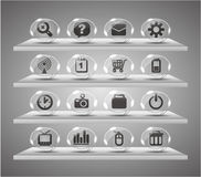 Speach web icons ,Transparent glass buttons Royalty Free Stock Image