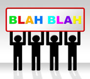 Speak Blah Represents Conversation Dialog And Speech Royalty Free Stock Photo