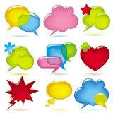 Speak bubbles. Raster version of image of chat speak bubbles for blog or web page There is in addition a format (EPS 8