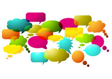 Speak bubbles Stock Images