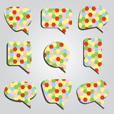 Speak bubbles colorful eps10 Royalty Free Stock Photography