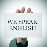 We speak english Royalty Free Stock Photography