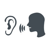 Speak and listen symbol Royalty Free Stock Photos