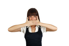 Speak no evil Royalty Free Stock Photo