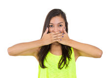 Speak no evil Stock Photography
