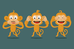 Speak no evil , Hear no evil Royalty Free Stock Photography