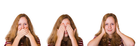 Speak no evil, see no evil and hear no evil Royalty Free Stock Photo