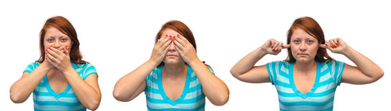 Speak no evil, see no evil and hear no evil Royalty Free Stock Images