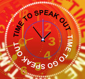 Speak Out Indicates Be Heard And Announcement Stock Photo