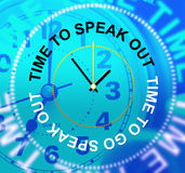 Speak Out Means Say Your Mind And Announcing Royalty Free Stock Images