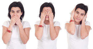 Speak, See, Hear no Evil Stock Images