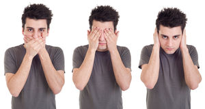 Speak, See, Hear no Evil Stock Photos