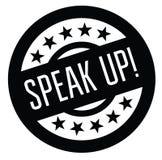 Speak up stamp on white Vector Illustration