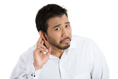 Speak up, can't hear Royalty Free Stock Photos