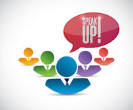 speak up diversity team. illustration Royalty Free Stock Photos