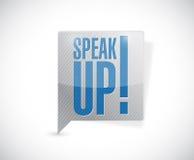Speak up message bubble illustration Stock Photos