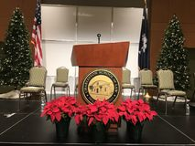 Speaker's Podium Stock Images