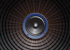 Speaker. Doom in surround background Royalty Free Stock Image
