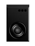 Speaker. Black speaker over white  background. sound illustration Stock Photos