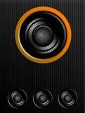 Speaker. Black speaker over white  background. sound illustration Royalty Free Stock Photos