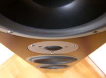 Speaker. Perspective from above of a corner speaker Royalty Free Stock Images