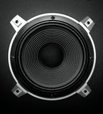 Speaker. Closeup of a sub-woofer of a loud speaker Stock Illustration