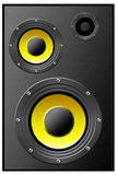 Speaker. Loudspeaker acoustic system, rester illustration Royalty Free Stock Photography