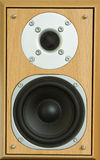 Speaker. A speaker mounted in a wooden housing complete with tweeter Royalty Free Stock Photos