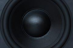 Speaker. Subwoofer element close-up of the loudspeaker royalty free stock photos