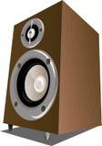 Speaker. Adobe illustrator work of a brown speaker Royalty Free Stock Image