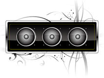 Speaker. Vector speaker with pattern, decorations and background Stock Image