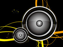 Speaker. Vector speaker with pattern, decorations and background Stock Photo