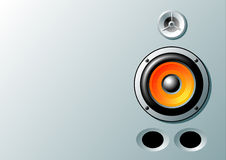Speaker. S on silver background, vector images Stock Images
