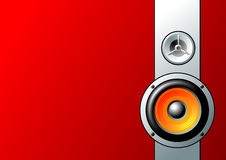 Speaker. S on red background, vector images Stock Image