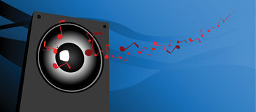 Speaker. Waves of a sound, simply speaker Stock Images