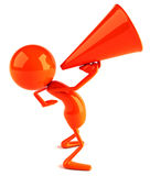 Speaker. With megaphone, 3d generated picture Stock Photography