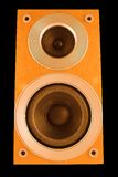 Speaker. Isolated on black Royalty Free Stock Photo