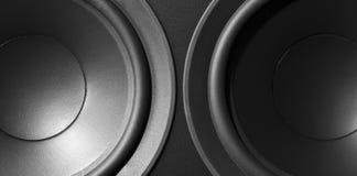 Speaker. Black hi-fi speaker close up Stock Photography