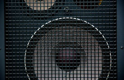Speaker. Close up of a black speaker Royalty Free Stock Photos